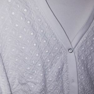 Rafaella Jackets & Coats - Rafaella cover up jacket 1x white eyelet